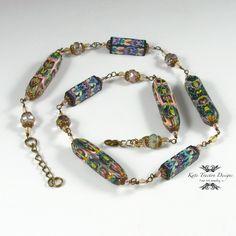 Collar de abalorios de Natasha arcilla por KateTractonDesigns