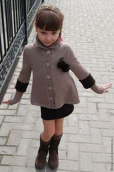 Knitting clothes set for girl / Одежда для девочек, ручной работы. Ярмарка Мастеров - ручная работа. Купить Комплект вязаный для девочки City Girl. Handmade. Жакет