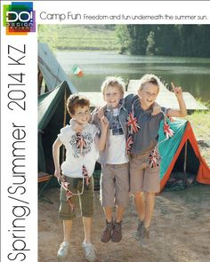 Spring Summer 2014, children's color trend report, Camp Fun