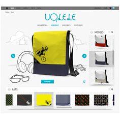 Diseño web para la tienda online de bolsos personalizables Uqlele.