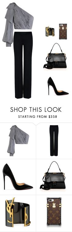 """""""Untitled #482"""" by nadiralorencia on Polyvore featuring Zimmermann, STELLA McCARTNEY, Christian Louboutin, Victoria Beckham and Yves Saint Laurent"""