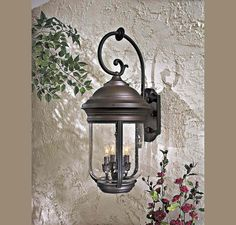The Great Outdoors Amherst 4 Light Wall Mount in Outdoor Lights, Outdoor Wall Lights: ProgressiveLighting.com