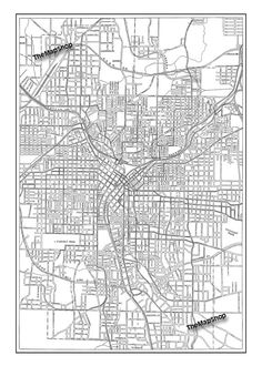 atlanta map map of atlanta georgia blueprint map print poster