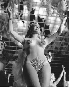 Showgirl, Nadine Ducas at Latin Quarter by Bunny Yeager.