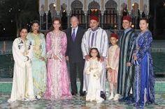 familia real de marruecos y el rey de españa juan carlos
