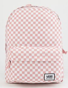 bab21a28cc97 VANS Realm Classic Pink Checker Backpack Vans Backpack