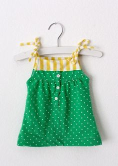 #DIY baby dress from an old polo! (In Baylor green and gold, too!)