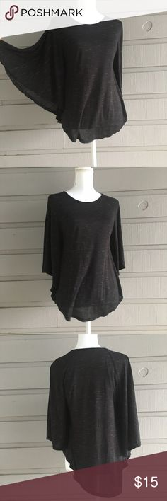 Heathered black dolman batwing top EUC Hi Y'all! All items in my closet are sold as is, any flaws that I find while I do my inspection will be displayed in the photographs or notes below. Measurements are available on request, and I'm happy to answer any questions you might have, or post additional photos. If you're concerned about fit or anything else please, please, please ask before purchasing! Items come from a smoke free home with one big fur baby, I launder all clothing before posting…