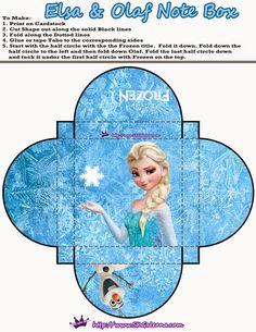 Frozen: Lindas Cajas para Imprimir Gratis