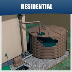Complete Residential Rainwater Harvesting Systems - Locally Catch, Store, Irrigate, and Percolate.