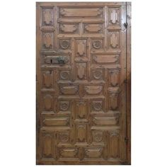 Solid Carved Door, circa 1780   From a unique collection of antique and modern doors and gates at https://www.1stdibs.com/furniture/building-garden/doors-gates/