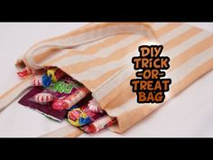 DIY Trick-or-Treat Bags with French Seams {EASY} - Whitney Sews - YouTube