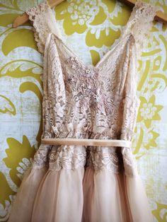 tan cream & nude chiffon alencon lace by mermaidmisskristin, $200.00 >>> LOVE THIS