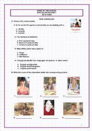 English worksheet: Spanglish (Film - Key included)