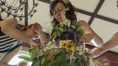Bojana's June 14th wildflower wedding dress.
