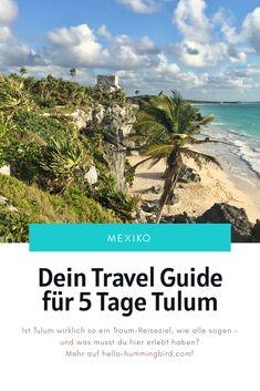 Tulum ist eins der am meisten gehypten Reiseziele auf Instagram. Hier erfährst du, was du dort erleben kannst und wieso Tulum auf deine Bucket List gehört! Cancun, Strand, Backpacking, Beach, Water, Outdoor, Instagram, Playa Del Carmen, Tulum Mexico