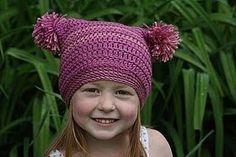double pom pom #hat #crochet