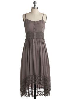grey cotton spaghetti strap dress