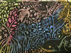 【美しい】クレヨンのひっかき絵(スクラッチ)アートが素敵らしい。の画像 | ギャザリー