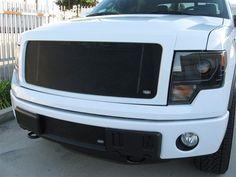 FOR1313B Ford F-150 Black MX Grille Upper Insert Grillcraft #Grillcraft #ChromeTrim