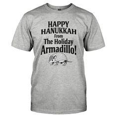Happy Hanukkah From The Holiday Armadillo