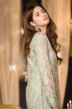 Maria B Couture Latest Fancy Formal Wedding Dresses consisting of beautiful luxury embroidered party & wedding wear suits designs with modern cuts! Pakistani Party Wear Dresses, Formal Dresses For Weddings, Disney Wedding Dresses, Pakistani Wedding Dresses, Formal Wedding, Pakistani Outfits, Wedding Party Dresses, Indian Dresses, Wedding Hijab