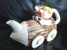 FRED AND BARNEY TEA POT