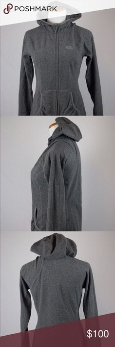 North Face Women's Zip Up Hoodie Female medium gray North Face zip up hoodie. This North Face zip up hoodie was hand picked and professionally cleaned before selling you! SKU in warehouse is # 806. North Face Jackets & Coats