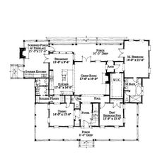 Small 5 Bedroom House Plans Awesome Historic Style House Plan Number with 5 Bed 5 Bath 5 Bedroom House Plans, Family House Plans, Dream House Plans, House Floor Plans, Lowcountry House Plans, Low Country Homes, Thing 1, Summer Kitchen, River House