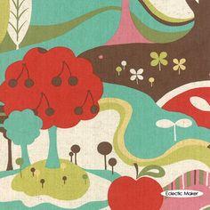Avant Garden Linen Momo Fantasia in Aqua Skies at Eclectic Maker