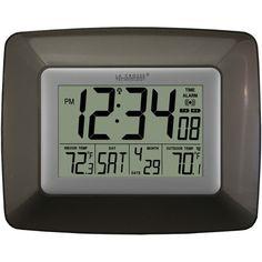 La Crosse Technology Atomic Digital Clock With Indoor And Outdoor Temperature (black)