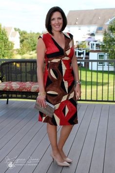 Pretty dress for the fall! Click through for more great ideas.. Jo-Lynne Shane