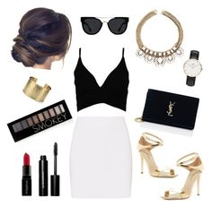 ♡black white gold♡ by clarinette38 on Polyvore featuring polyvore fashion style Helmut Lang Via Spiga Yves Saint Laurent Blue Nile Daniel Wellington Quay Forever 21 Bobbi Brown Cosmetics Smashbox clothing