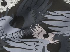 Heartwings II: Black, Gray, Beige - from a Camouflage series by Penina, via Flickr
