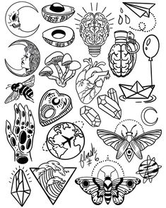 tattoo flash art Thank you everyone that participated in my flash tattoo sale and helped me to promote and celebrate the new flash sheets! These designs Flash Art Tattoos, Tattoo Flash Sheet, Body Art Tattoos, How To Draw Tattoos, Sleeve Tattoos, Kritzelei Tattoo, Doodle Tattoo, Tattoo Wave, Tattoo Maori