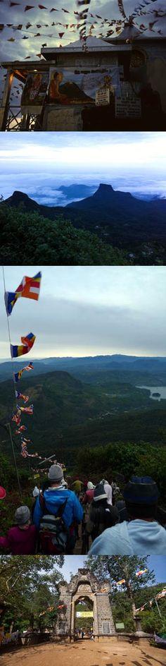 Adam's Peak (Sri Pada), Sri Lanka (www.secretlanka.com) Adam's Peak, Buddhist Traditions, Thing 1, Little Island, Rock Formations, Tour Operator, Maldives, Travel Pictures, Sri Lanka