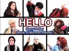 HELLO- Harry Potter Book of Mormon parody. Greatest thing since sliced bread Harry Potter Gif, Harry Potter Books, Brizzy Voices, Hello Harry, Potter Puppet Pals, Parody Videos, Disney Jokes, Book Of Mormon, Book Nerd