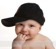 30a6d91773e baby boy photo in a Boston Red Sox hat taken at Bobbie Bush Photography in  Salem