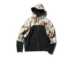 SOPHNET. | PRODUCT | CAMOUFLAGE CHEST PANEL HOODY