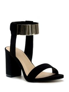 SHARE & Get it FREE   Black Flock Chunky Heel SandalsFor Fashion Lovers only:80,000+ Items • New Arrivals Daily Join Zaful: Get YOUR $50 NOW!