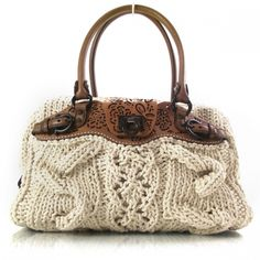 knitted satchel. ferragamo.