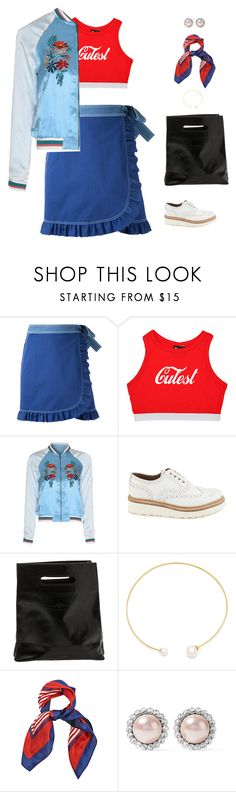 """""""fashion blogger"""" by candynena228 ❤ liked on Polyvore featuring FLOW the Label, Glamorous, Grenson, Marie Turnor, Fallon and Miu Miu"""