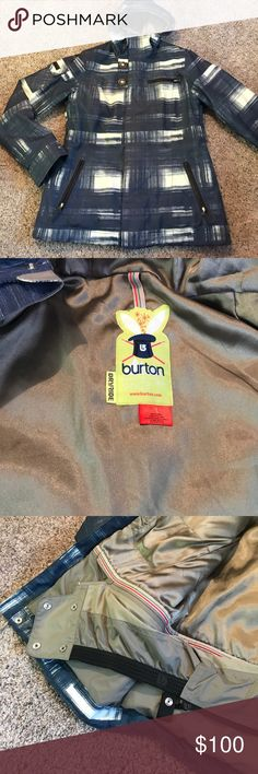 BURTON paint stroke snowboarding coat EXCELLENT CONDITION BURTON WINTER COAT • designed for the slopes, this coat comes with tons of functional details such as a zip-in feature for snow pants and two lift pass pockets • it also has zippers designed to keep your valuables IN because they zip down • extremely warm with satin inside • adjustable hip and hood Burton Jackets & Coats Utility Jackets