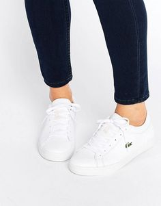 Buy Lacoste Classic Straightset Trainers at ASOS. Get the latest trends with ASOS now. Lacoste Sneakers, Lacoste Shoes Women, Lacoste Trainers, Adidas Shoes Women, Shoes Sneakers, Canvas Sneakers, Sneakers Women, White Slip On Sneakers, Slip On Pumps