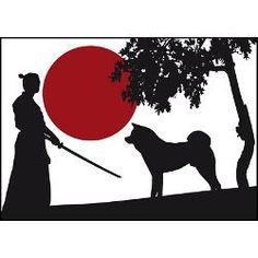 Akita and samurai