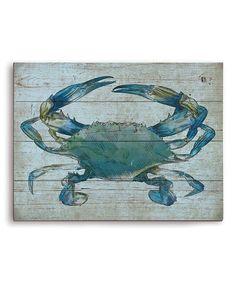 Look what I found on #zulily! Blue Crab Wall Art #zulilyfinds
