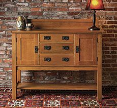 Arts And Crafts Sideboard   Fine Woodworking Article