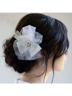 Sparkling Diamond Chiffon Net yarn, Bridal Hair Accessories