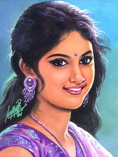 Oviyar Maruthi Sexy Painting, Sketch Painting, Woman Painting, Indie Kunst, Indie Art, Indian Women Painting, Indian Art Paintings, Draw On Photos, Pictures To Draw