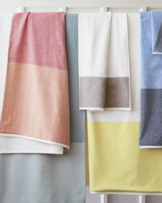 Color on color, in combos that are hard to resist. Fouta Color Block Towels. #serenaandlily